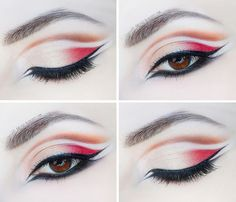graphic eyeliner double cut crease double eyeliner step by step tutorials pictures makeup look