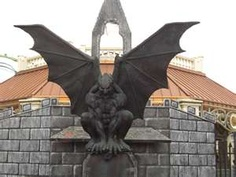 gargoyles are good luck and frightened away evil spirits