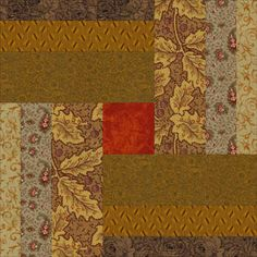 Wovel Logs Quilt Pattern - I can see some interesting applications of this.