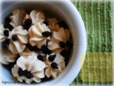 Chocolate chip peanut butter frozen yogurt bites