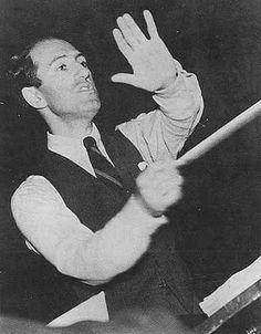 George Gershwin conducting the Los Angeles Philharmonic