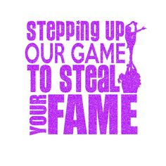 Stepping Up Our Game Iron On Decal 2 by GirlsLoveGlitter on Etsy
