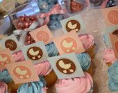 Printable Party Circles/Favor Tags-Gender Reveal/Baby Stroller and Initial Cupcake Toppers
