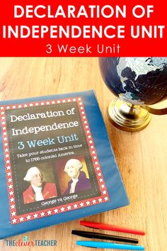 This 3 week Declaration of Independence history unit is packed full of fun interactive lesson and activities! These lessons and projects are especially great for kids in grade grade grade and grade. Save yourself a ton of prep time and check it out today! World History Teaching, World History Lessons, History Projects, History Class, 7th Grade Social Studies, Social Studies Resources, Teaching Social Studies, Declaration Of Independence, Independence Quotes