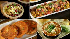 chaat recipes, indian chaat recipes, mumbai street food recipes - bhel puri, pani puri, sev puri, pav bhaji, vada pav, dahi puri, samosa, aloo tikki chaat