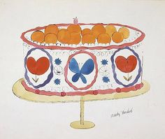 cake illustration by Andy Warhol Cake Illustration, Food Illustrations, Andy Warhol Drawings, Warhol Paintings, Dinning Room Art, Pop Art Movement, Jackson Pollock, Happy Birthday Me, 30th Birthday