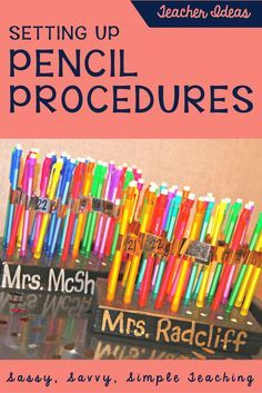 Student Pencil Procedures and more! The Best Teacher Ideas for YOUR Classroom with a FREEBIE! Simple ideas to create, that are cost-effective and improve your classroom management procedures and routines. #classroommanagement