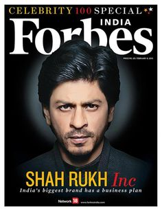 SRK - Forbes India magazine cover February 8, 2013