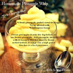 21 Day Fix approved easy Pineapple Whip will satisfy your sweet tooth!