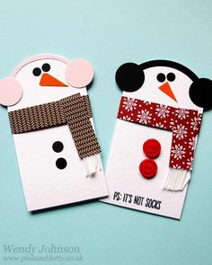 Snowmen Gift Card Holder