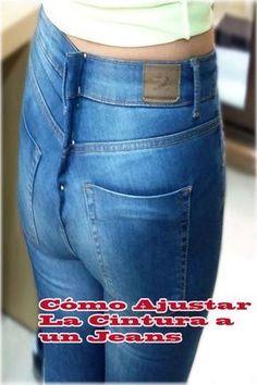Muchas veces nos vemos en la necesidad de ajustar la cintura a un pantalón de Jeans o Vaquero, ya sea porque lo hemos comprado y nos ha quedado un poco grande, porque ha sido un regalo o porque hemos adelgazado. #jean #costura #curso #ideas #coser #molde