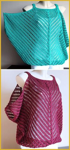 Discover thousands of images about Flirt Top - Free Pattern (Beautiful Skills - Crochet Knitting Quilting) Baby Knitting Patterns, Lace Knitting, Knitting Designs, Knitting Stitches, Knitting Charts, Knitting Projects, Poncho Patterns, Kids Knitting, Crochet Patterns