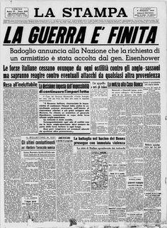 Il 9 settembre 1943 è la fine della Seconda Guerra Mondiale. Newspaper Front Pages, Newspaper Cover, Old Newspaper, Front Page News, Newspaper Archives, First Page, Prehistory, Ancient History, Make Me Happy