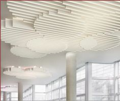 This is a cloud system from OWA made with intersecting baffles.