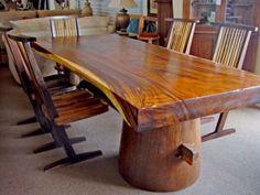 Пример столика с цельной столешницей