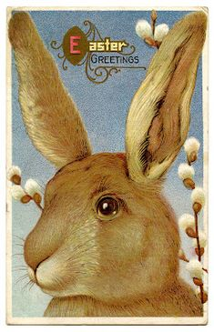 Big Vintage Easter Bunny