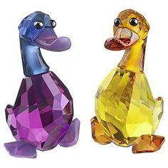 Lily and Luke, Pair of Ducks, Swarovski Lovlots City Park Collection - SALE  Swarovski Crystal Figurines.