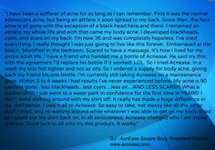 Amazing review by DJ, long-term acne sufferer who had amazing results on the AcnEase Severe Body #Acne Treatment | AcnEase.com