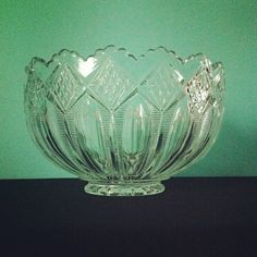 Vintage Glass Punch Bowl (Three-in-One Pattern by Imperial Glass). $45.00, via Etsy.
