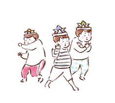 Japanese Illustration, Illustration Girl, Character Illustration, Doodle People, Doodle Sketch, Japan Art, Cute Characters, Illustrations And Posters, Easy Drawings