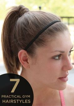 Sporty Ponytail Hairstyles To The Gym, From time to time, all it requires is one particular braid. To start with, you want to make two unique kinds of braids and then set them on as headban. Active Hairstyles, Track Hairstyles, Sporty Hairstyles, Daily Hairstyles, Workout Hairstyles, Ponytail Hairstyles, Cool Hairstyles, Hairstyles For Working Out, Hairdos