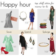 Happy hour: Lovely outfit ideas for even more lovely moms-to-be.