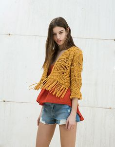 5e0ff37be82cc Macramé jacket - New - Bershka Singapore on ShopperBoard