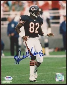 """WENDELL DAVIS BEARS SIGNED COLOR 8x10 PHOTO PSA COA . $25.00. CHICAGO BEARS WIDE RECEIVER, WENDELL DAVIS, HAND SIGNED 8x10"""" COLOR PHOTOGRAPH.  . AUTOGRAPH AUTHENTICATED BY PSA/DNA WITH NUMBERED PSA/DNA AUTHENTICATION STICKER ON ITEM AND MATCHING NUMBERED PSA/DNA CERTIFICATE OF AUTHENTICITY (COA) INCLUDED. PSA/DNA COA: #G24385 ITEM PICTURED IS ACTUAL ITEM RECEIVED. ITEM IS SOLD AS IS, NO REFUNDS AND NO EXCHANGES."""