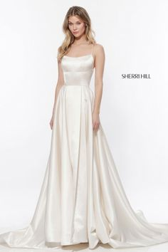 White dress party - Sherri Hill 52095 A Line Prom Gown – White dress party Sherri Hill Wedding Dresses, Cocktail Bridesmaid Dresses, A Line Prom Dresses, Homecoming Dresses, Sherri Hill White Dress, Party Dresses, Long Dresses, Dress Party, Dress Long