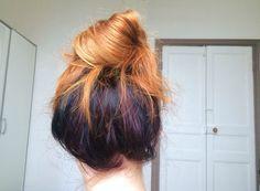 Color hair hundernead
