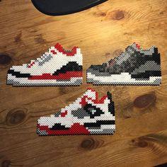 Nike Jordan perler beads by glaze73