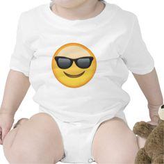 Smiling Face With Sunglasses Emoji Romper