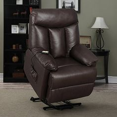 Best Home ProLounger Lya Modern Brown Renu Leather Power Recline and Lift Wall Hugger Chair * Be sure to check out this awesome product.