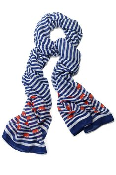 Stella & Dot Palm Springs Scarf | Navy Stripe Elephant