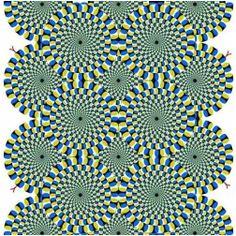 """Uma das imagens mais famosas que """"cria movimento em uma imagem estática"""" é esta. Uma edição do Jornal de Neurciência dos Estados Unidos fez ..."""