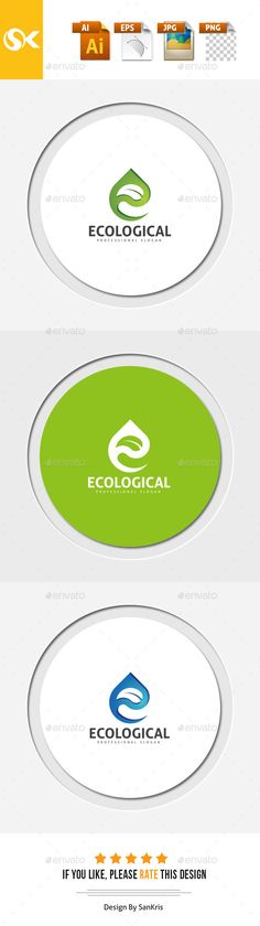 Ecological Logo Design - Letters Logo Templates