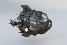 Based on a Sub pod From Disney film Atlantis Spaceship Art, Spaceship Concept, Concept Ships, Concept Art, Steampunk Airship, Style Steampunk, Dieselpunk, Atlantis The Lost Empire, Retro Rocket