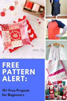 FREE PATTERN ALERT: 15+ Free Projects for Beginners - On the Cutting Floor: Printable pdf sewing patterns and tutorials for women | On the Cutting Floor: Printable pdf sewing patterns and tutorials for women