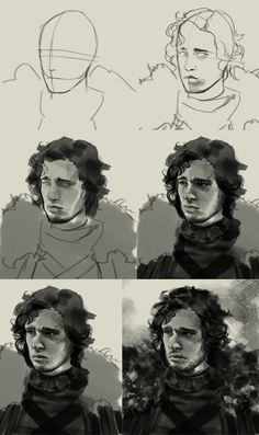 how to draw direwold game of thrones step by step