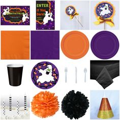 Kid Birthday Halloween Ghost Standard Party-in-a-box