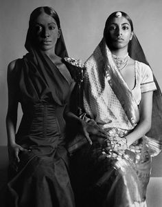 """Empire Line (2005) series by British photographer Gavin Fernandes. Fernandes describes the series in British Asian Style: Fashion & Textiles / Past and Present: By subverting representations of British """"memsahibs"""" and their indigenous Indian servants, and through the interaction of period British costume and native Indian dress, Empire Line explores the politics of clothing and its relationship with class and caste in 19th-century colonial India."""