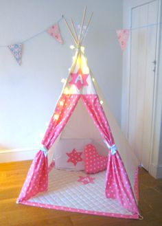 Personalized Star Initial Play Teepee  Wigwam  by LoveLimeKids, £140.00