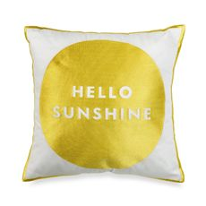 Maybe this pillow will help me embrace the fact that life dictates I be a morning person.