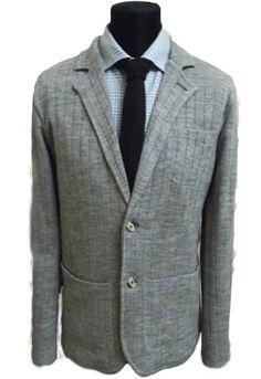 Knitted jacket. Трикотажный пиджак без подкладки.