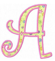 Set of curly applique font letters machine embroidery by FunStitch, $6.50
