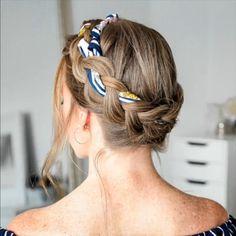 hair tutorial video, braided hairtsyles – My World Side Braid Hairstyles, Braided Hairstyles Tutorials, Cool Hairstyles, Scarf Hairstyles Short, Updos Hairstyle, Gorgeous Hairstyles, Hairstyles Videos, Bandana Hairstyles, African Hairstyles