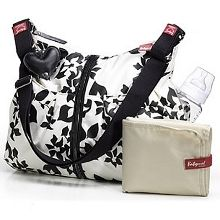 New baby? New purse.er, I mean diaper bag.Babymel Amanda Diaper Bag Modern Floral Black/White Love This! Cute Diaper Bags, Starbucks Gift Card, Baby Gear, Baby Pictures, New Baby Products, Gym Bag, Shoulder Strap, Purses, Black And White