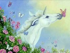 butterfly kisses Abstract bright fantasy Kiss spring unicorn ...
