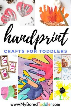 handprint craft ideas for toddlers - hand print crafts to use as gifts for Christmas or Mother's Day or FAther's day - baby handprint craft, toddler handprint craft, Craft Projects For Kids, Easy Crafts For Kids, Toddler Crafts, Craft Ideas, Kid Crafts, Preschool Arts And Crafts, Fun Arts And Crafts, Christmas Crafts For Toddlers, Toddler Christmas