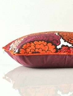 Tulukka Red Print Cushion Cover - 16in x 16in